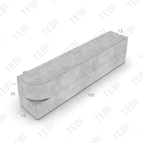 Boomrandband 13/15x25x105cm grijs