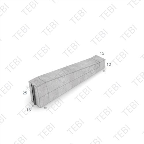 Eindverloopband 13/15x25x100cm - maaiveld grijs