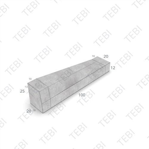 Eindverloopband 18/20x25x100cm - maaiveld grijs