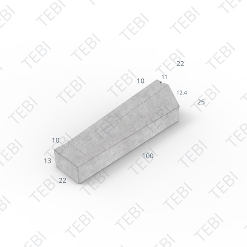 Eindverloopband maaiveld - 11/22x25x100cm grijs
