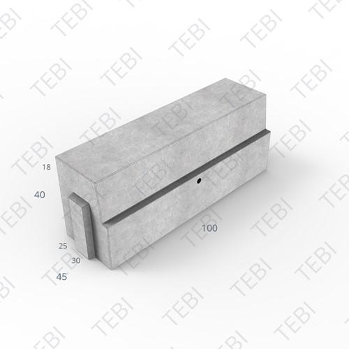 HOV-band 25/30x40x100cm verdekt grijs