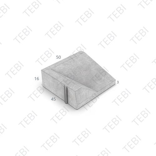 Inritband 45x50x16cm grijs links