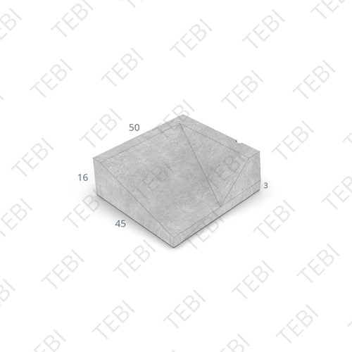 Inritband 45x50x16cm uitgew zwart rechts