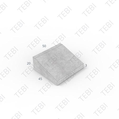 Inritband 45x50x20cm zwart tussen