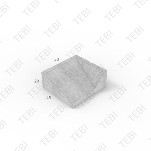 Inritband 45x50x20cm grijs rechts