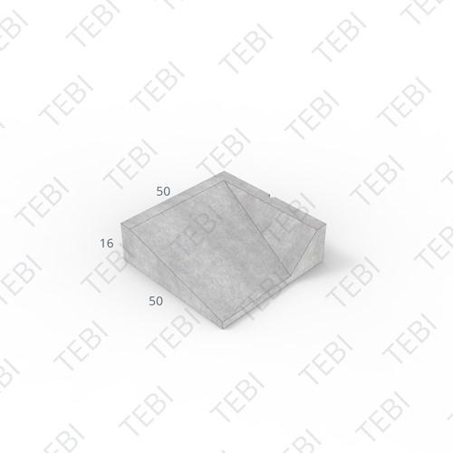 Inritband 50x50x16cm grijs rechts
