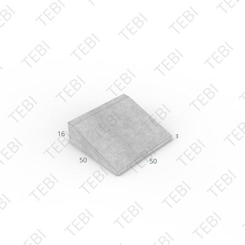Inritband 50x50x16cm grijs tussen
