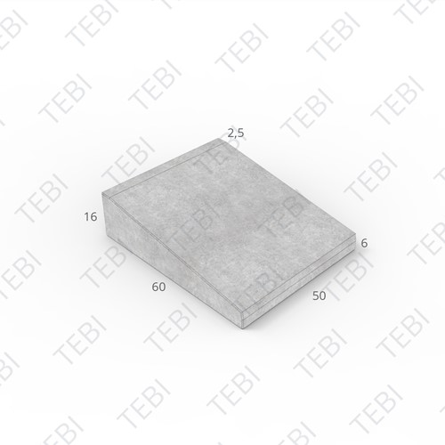 Inritband 60x50x16cm grijs tussen