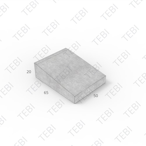 Inritband 65x50x20cm grijs tussen