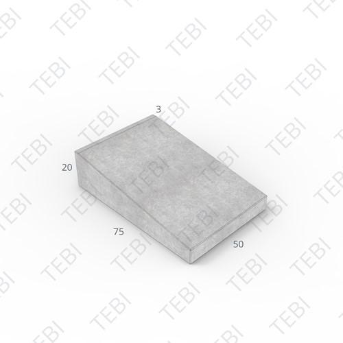 Inritband 75x50x20cm zwart tussen