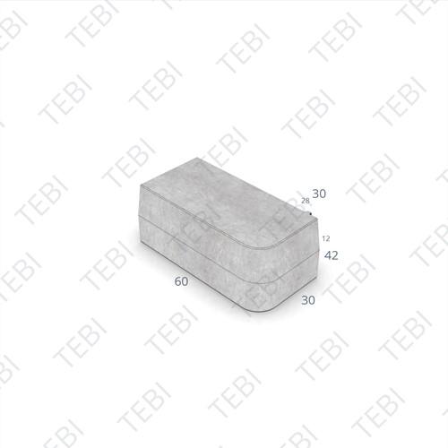 Inritperronband 28/30x24x60cm grijs R