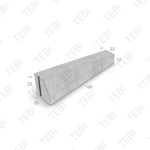Inritverloopband 11/22x20/14x100cm grijs links