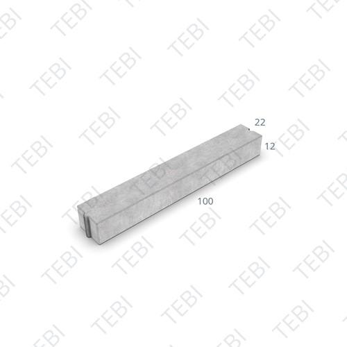 Inritverloopband 11/22x20/14x100cm grijs tussen