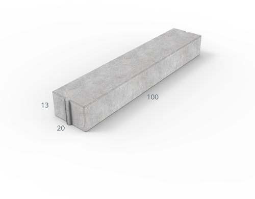 Inritverloopband 7/20x20x100cm grijs tussen