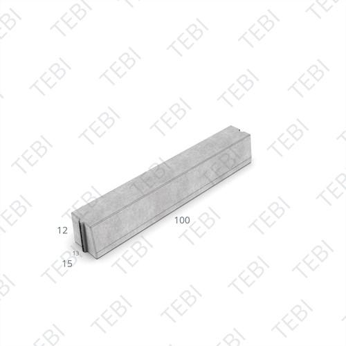 Trottoirband 13/15x12x100cm grijs gewapend