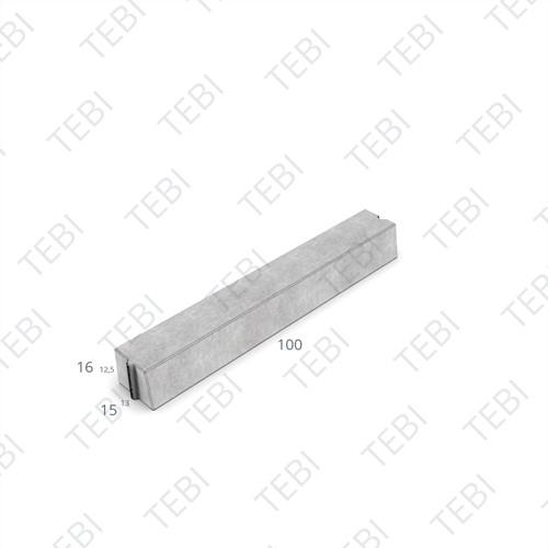 Trottoirband 13/15x16x100cm grijs