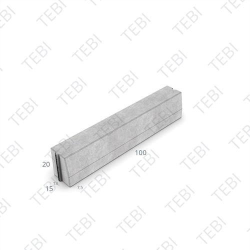 Trottoirband 13/15x20x100cm grijs