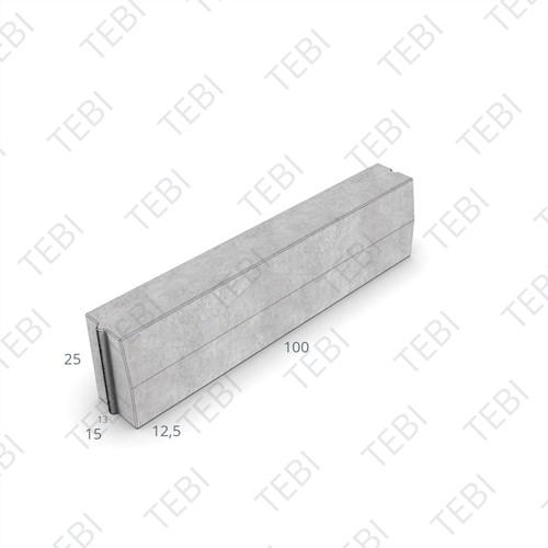 Trottoirband 13/15x25x100cm uitgew. zwart