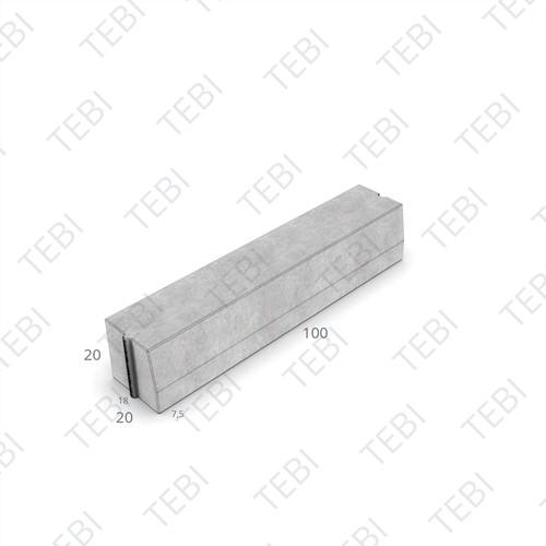 Trottoirband 18/20x20x100cm grijs