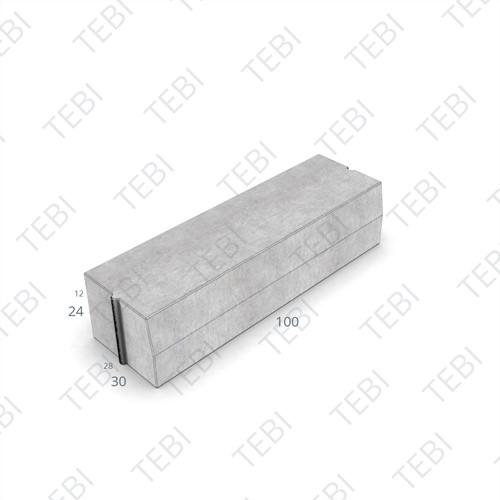 Trottoirband 28/30x24x100cm Grijs