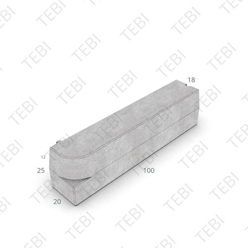 Boomrandband 18/20x25x100cm antraciet