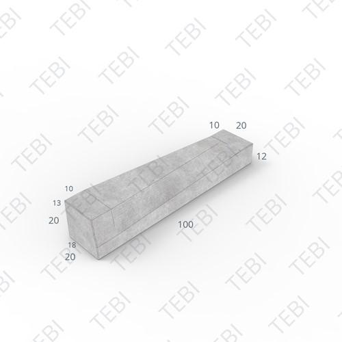Eindverloopband 18/20x20x100cm - maaiveld Antraciet