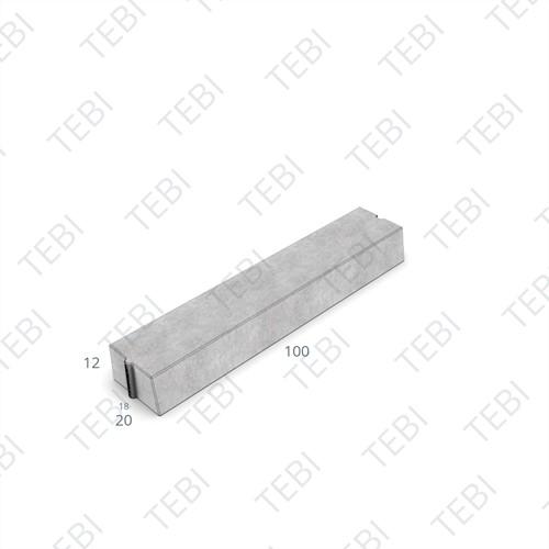 Trottoirband 18/20x12x100cm grijs