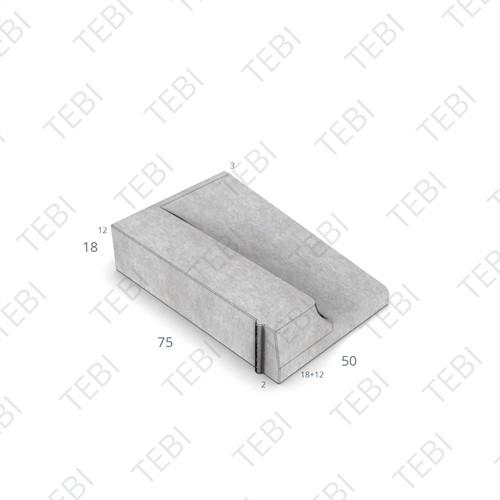 Inritband 75x50x18cm uitgew zwart links
