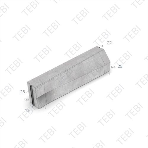 Verloopband 13/15-11/22x25x100cm grijs