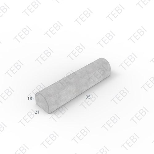 Stootband 18x21x95cm grijs tussenstuk