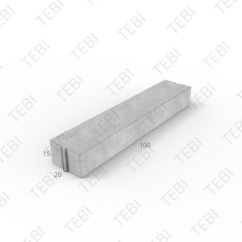 Inritverloopband 18/20x25/15x100cm zwart tussen