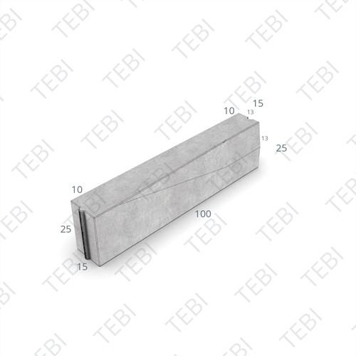 Verloopband 15x25-13/15x25x100cm grijs