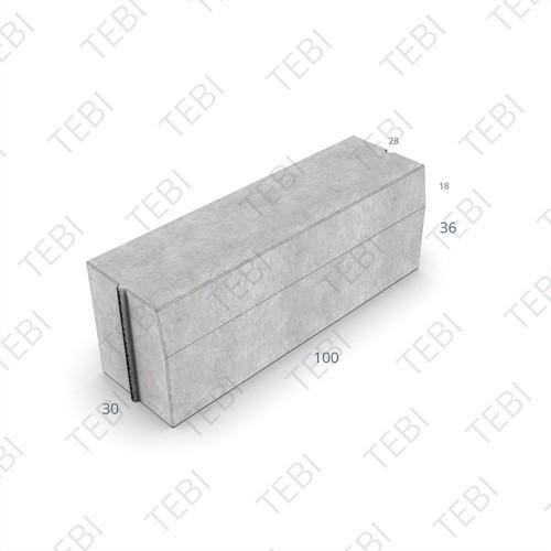 Trottoirband 28/30x36x100cm Grijs