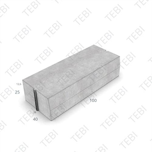 Trottoirband 38/40x25x100cm grijs