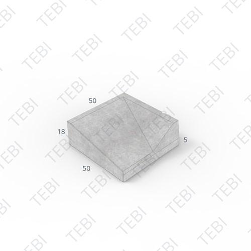 Inritband 50x50x18cm grijs rechts
