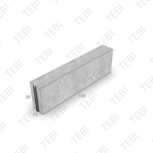 Opsluitband 15x30x100cm grijs