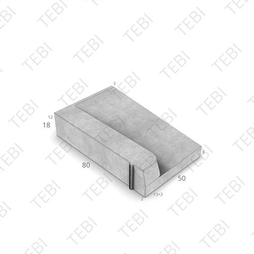 Inritband 80x50x18cm Lavaro grigio 20 links