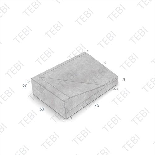 Inritband 50x75x20cm zwart links