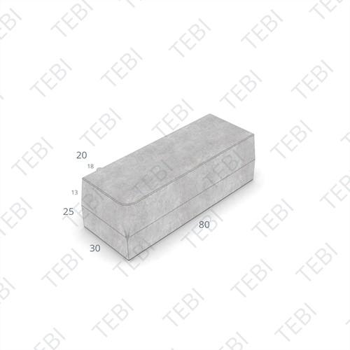 Inritperronband 18/20x25x80cm uitgew. grigio rechts