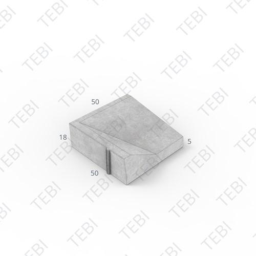 Inritband 50x50x18cm hardsteenkleur links