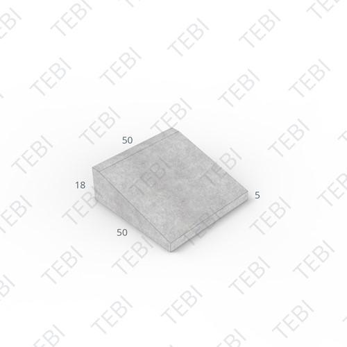 Inritband 50x50x18cm hardsteenkleur tussen