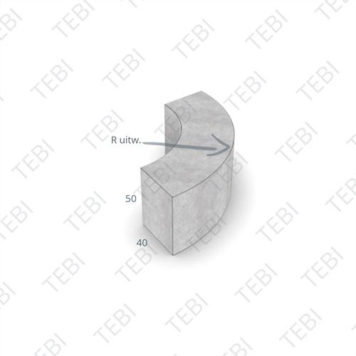 Parkbochtband 40x50x157cm grijs R=2