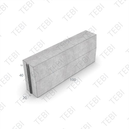 Trottoirband 17/20x40x100cm grijs