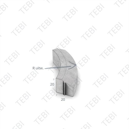 Bochtstuk 7/20x20cm R=2 Uitw. grijs