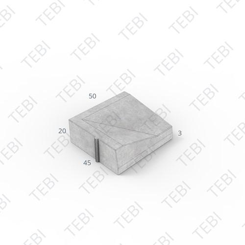 Inritband 45x50x20cm uitgew. zwart Lavaro 706 links