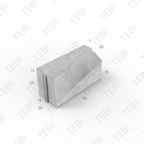 Verloopband 18/20-7/20x25x50cm grijs