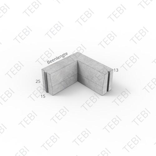 Bochtstuk 18/20x20cm R=3 Uitw grijs
