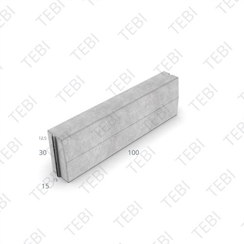 Trottoirband 13/15x30x100cm grijs