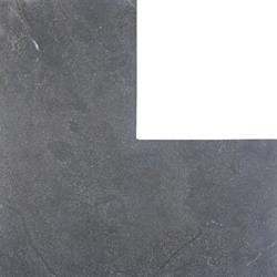 Asian Bluestone vijverrand hoek blauw gezoet 3x25x50/50cm