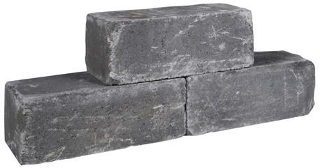 Palinoblock getrommeld 30x15x15cm antraciet